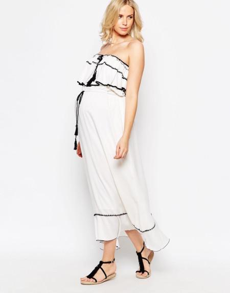 Vestido Con Escote Bardot Premama