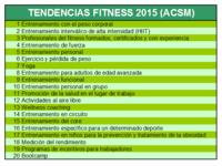Tendencias fitness para 2015, según la ACSM