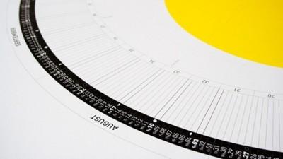 Un original calendario circular para 2014