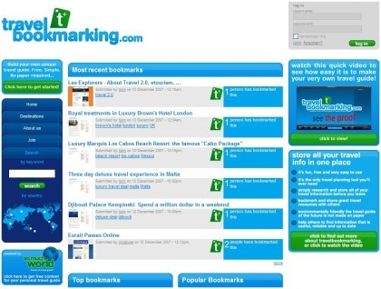 Travel Bookmarking: gestor de favoritos para viajeros