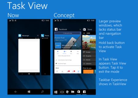 ¿Una barra de tareas al estilo PC en tu móvil con Windows 10? Es sólo un concepto pero...