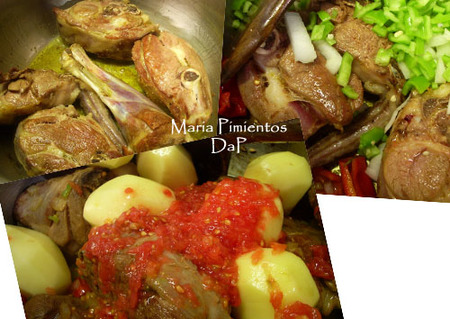 Pierna de cordero guisada con patatas