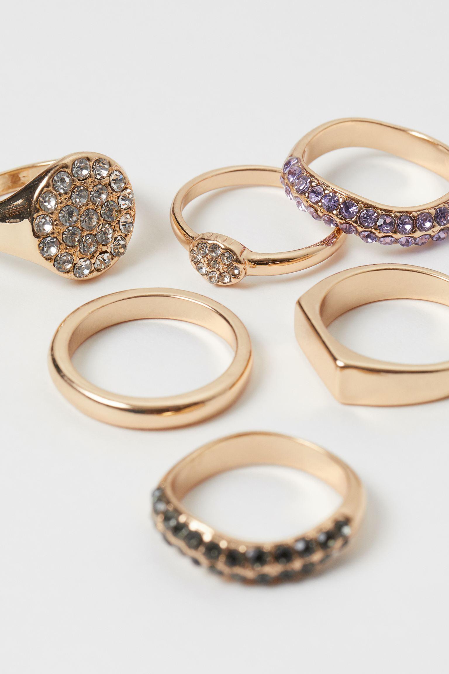 Pack de 6 anillos