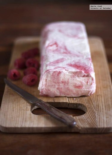 Semifrío de frambuesas: receta fácil de Lorraine Pascale