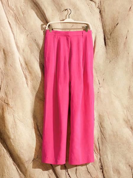Pantalon Amplio Mezcla De LinoPantalón amplio mezcla de lino