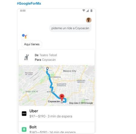 Google Assistant se convertirá en el Kayak de los servicios de conductor privado