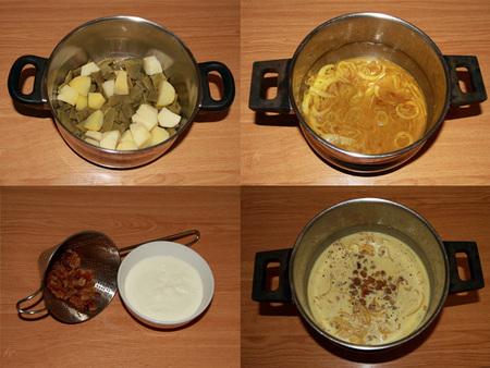 Fotos del paso a paso de las judías verdes con salsa de yogur sin lactosa al estilo oriental