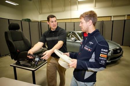Sebastian Vettel deja la pista y llega a la oficina