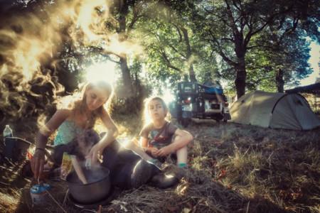 De acampada en Francia