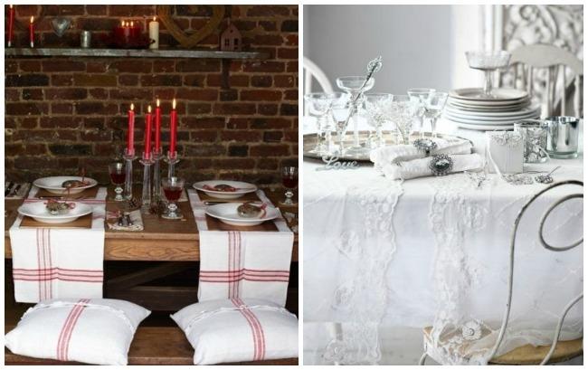 Mesas de Navidad, rústica y sofisticada