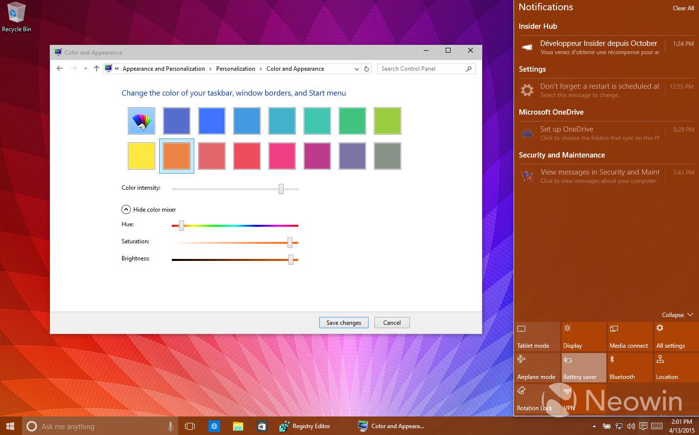 Foto de Temas de colores en Windows 10 build 10056 (9/16)