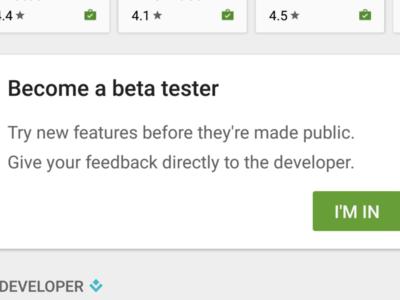 Google Play hace mas fácil acceder a las versiones beta de las aplicaciones