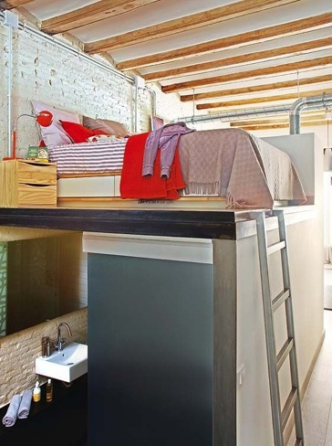 loft barcelona dormitorio