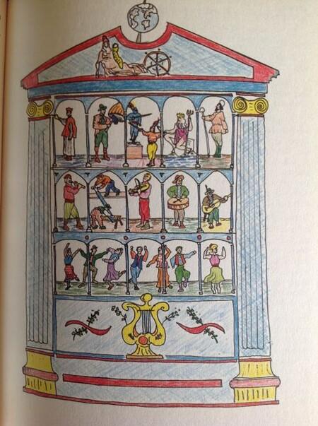 Reconstrucción de la caja de autómatas descrita por su autor, realizada por Almudena Cabello.