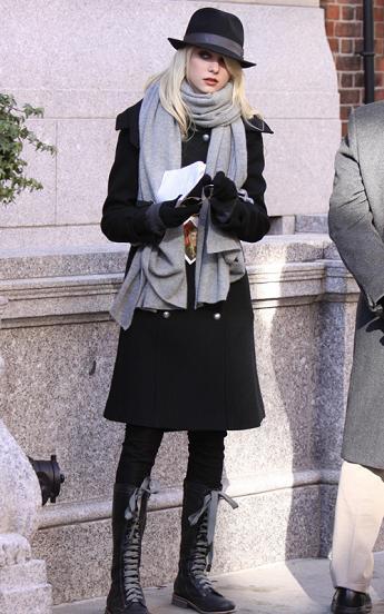 Primeros looks de Gossip Girl en 2010: el frío sigue siendo el protagonista