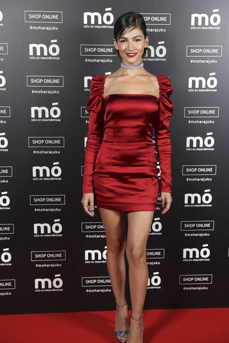 Ursula Corbero Multiopticas Vestido Rojo Choker