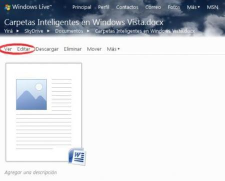 Integracion con SkyDrive