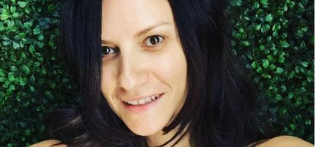 Laura Pausini sin maquillaje. Bellissima!