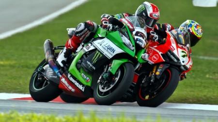 Jonathan Rea Chaz Davies Superbikes Malasia 2015