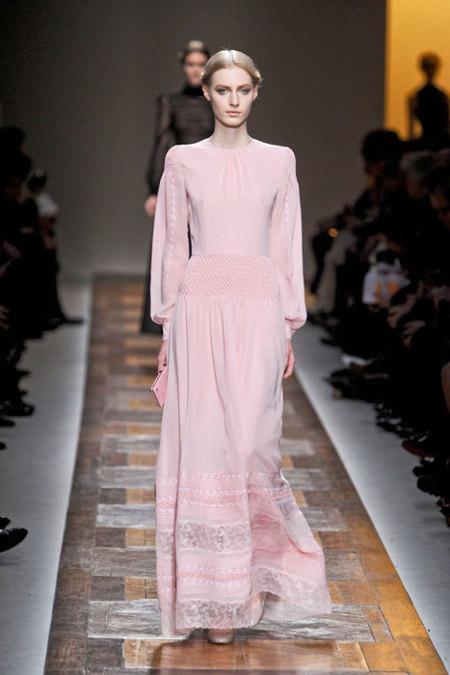 Valentino vestido rosa palo