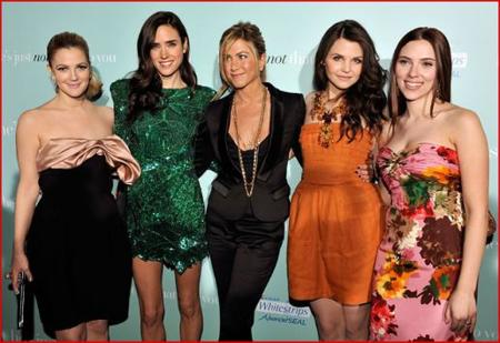 Jennifer Aniston, Drew Barrymore, Jennifer Connelly y Scarlett Johansson, juntas de estreno