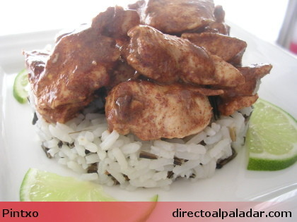 Receta de pollo marinado con lima y canela con arroz salvaje