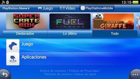 Playstation Mobile en PS Vita