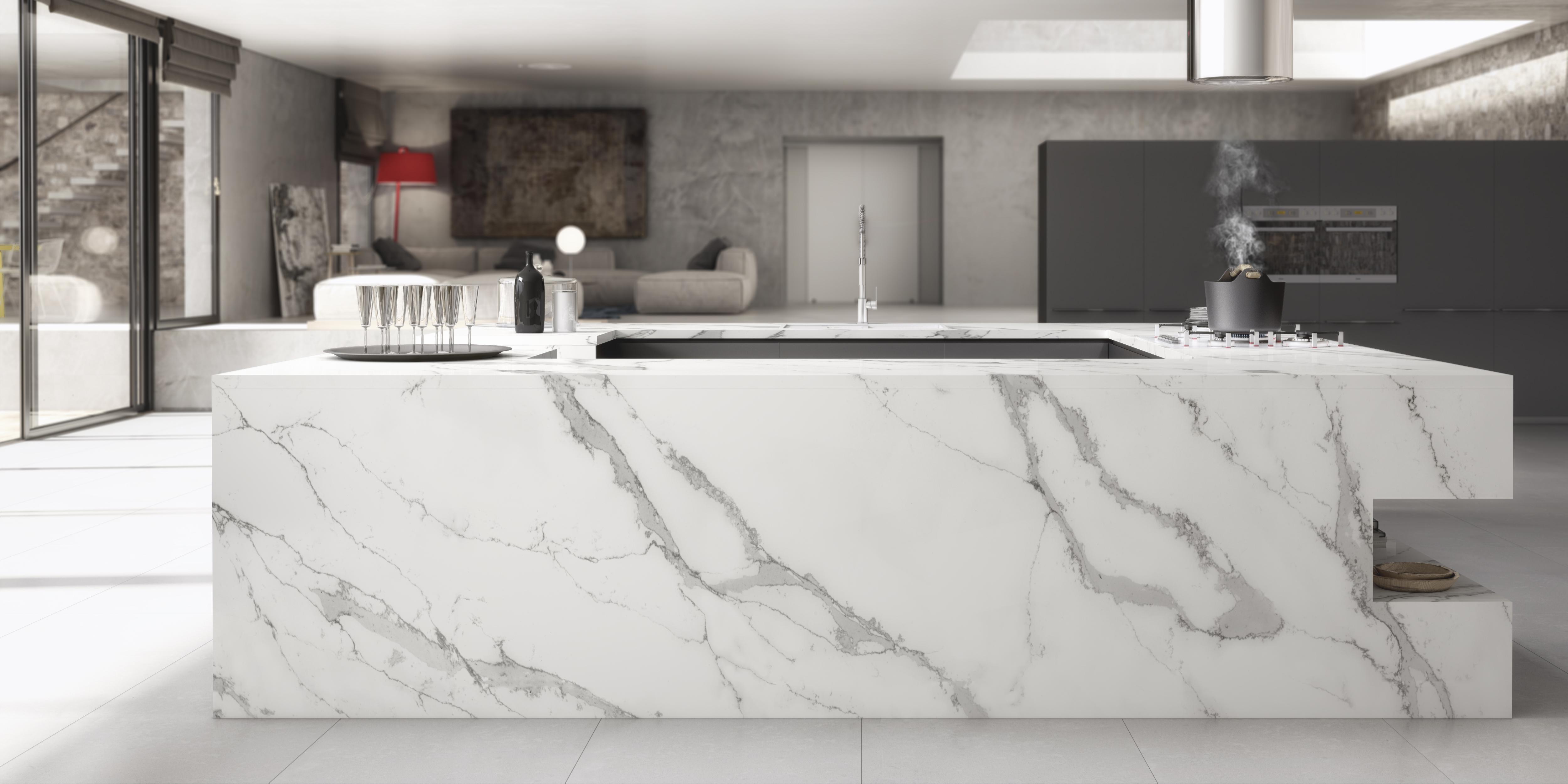 Unique calacatta belleza de m rmol y resistencia de - Encimeras de marmol para banos ...