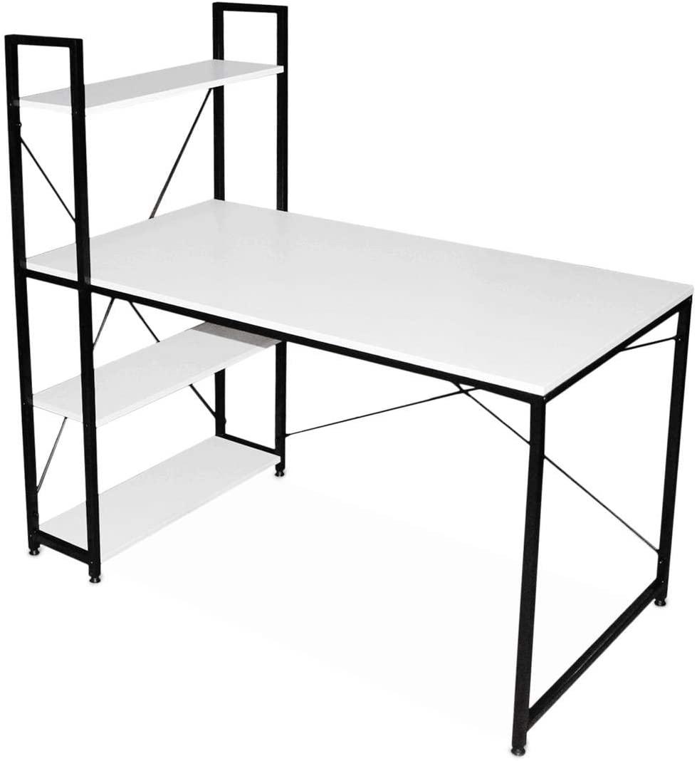 Escritorio minimalista para computadora, blanco - Home Office