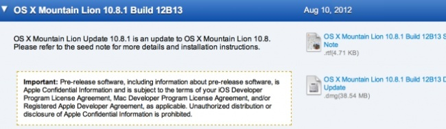 Actualización 10.8.1 Mountain Lion