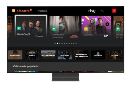 Samsung actualiza la aplicación para smart TV de RTVE A La Carta, que llega con mejor interfaz y soporte para contenidos 4K