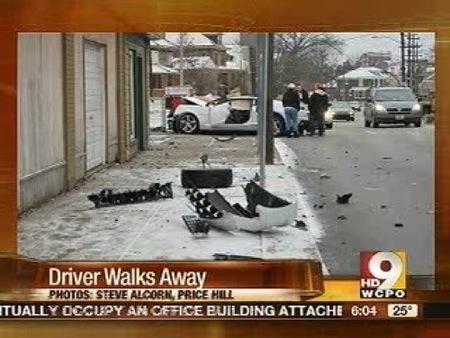 Chevrolet Camaro destrozado