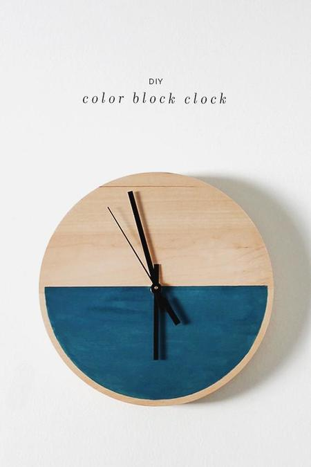 Color Block Clock Diy1