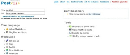 Postli, unificando la botonera de los agregadores para tu web