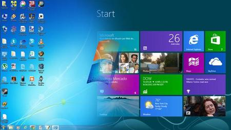 La interfaz de Windows 7 y 8