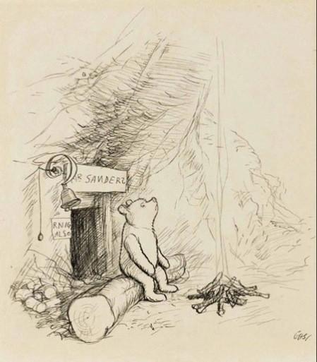 Subasta de los primeros dibujos de Winnie the Pooh