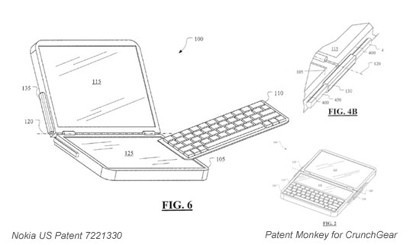 Nokia patenta dispositivo con dos pantallas táctiles