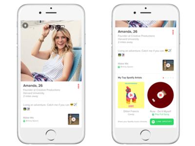 Spotify se une a Tinder para que los usuarios consigan citas a través de los gustos musicales