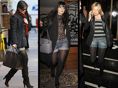 Lo que se lleva este otoño-invierno: shorts tejanos con medias