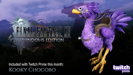 Los usuarios de Twitch Prime pueden conseguir GRATIS el Chocobo Kooky en Final Fantasy XV: Windows Edition