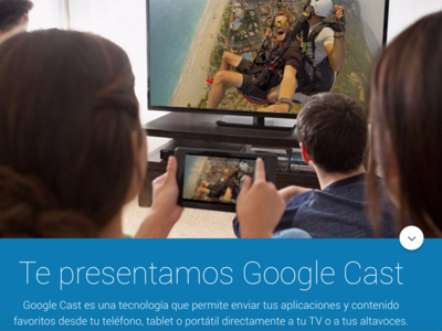Google cambia el nombre a la aplicación Chromecast por Google Cast y de paso actualiza la web
