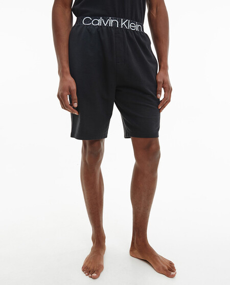 Pantala3n De Pijama Corto De Hombre De Punto Negro