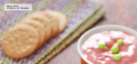 Postre helado de yogur y fresas. Receta
