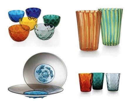 Vidrio de colores para alegrar la mesa