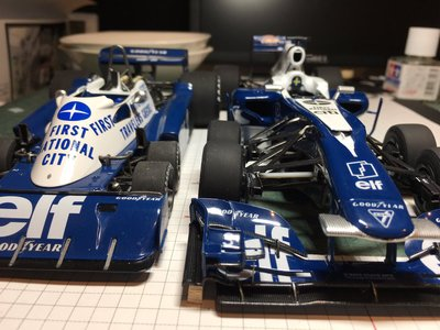 El Tyrrell P34 de seis ruedas, adaptado a la Fórmula 1 actual
