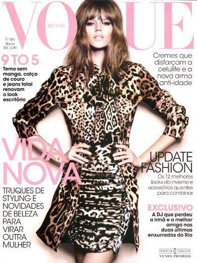 Freja Beha más femenina que nunca en Vogue Brasil