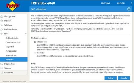 Fritz Box 4040, uso como repetidor