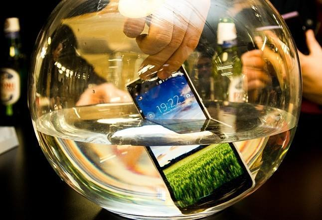 prueba agua Sony Xperia Z