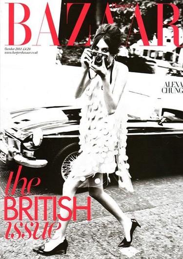Alexa Chung para Harper's Bazaar UK: una modelo, dos revistas, tres portadas