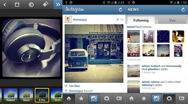 Capturas de Instagram para Android